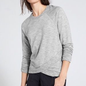 Athleta Heather Gray Criss Cross Sweatshirt XL